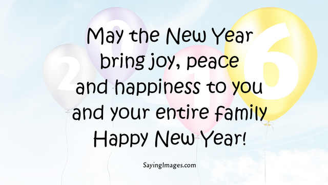 family new year saying
