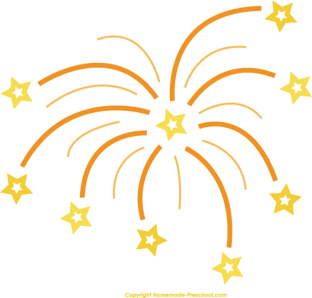fire works new year clip art
