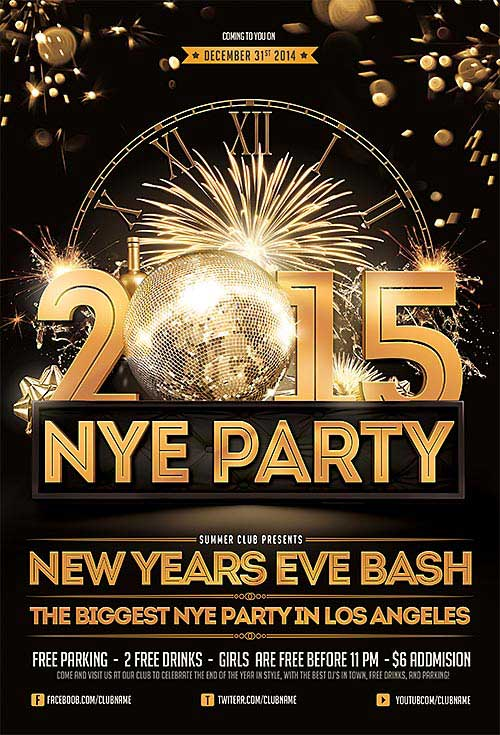 flyer new year poster