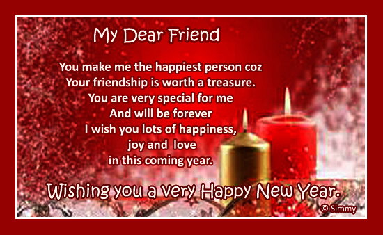 friend new year cards