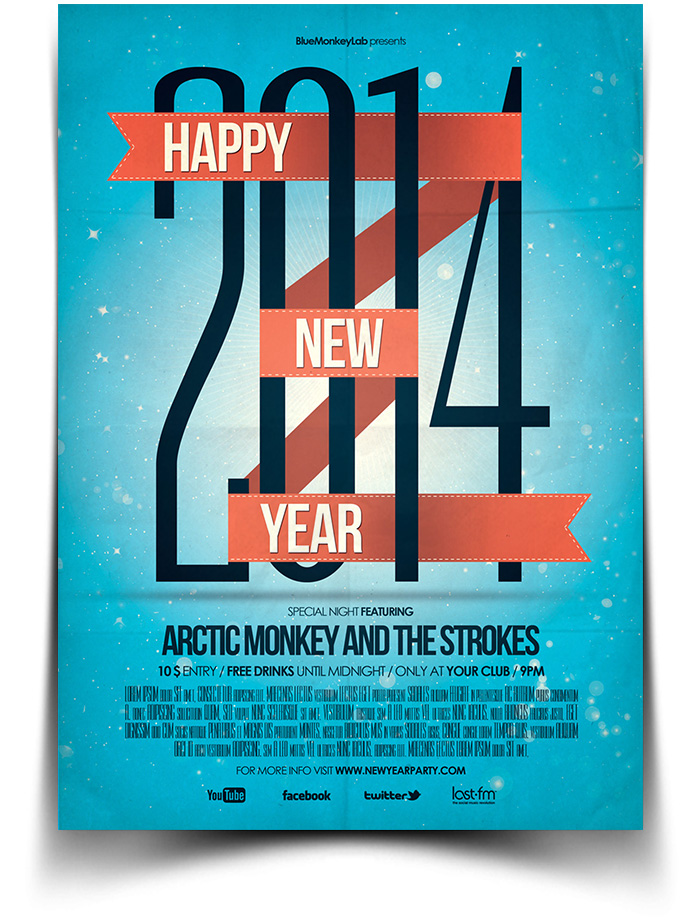 gig new year poster