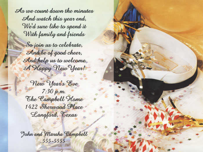 invitation new year messages