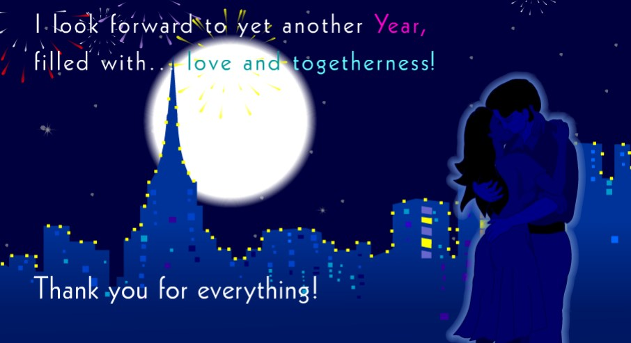 lover new year cards
