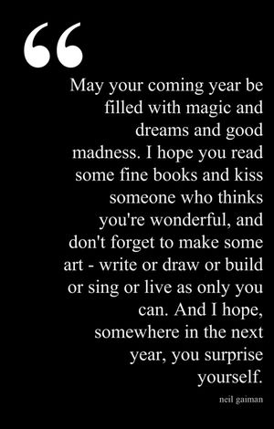 magical new year saying