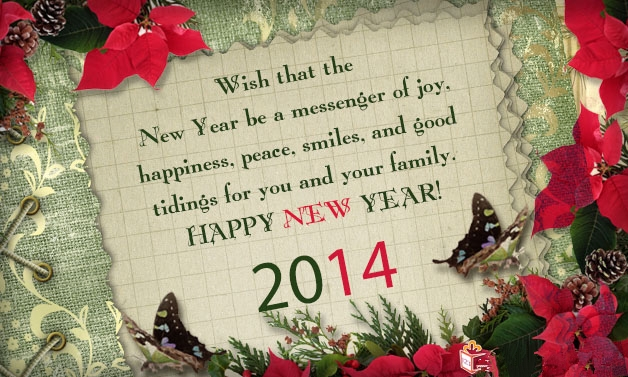 message new year cards