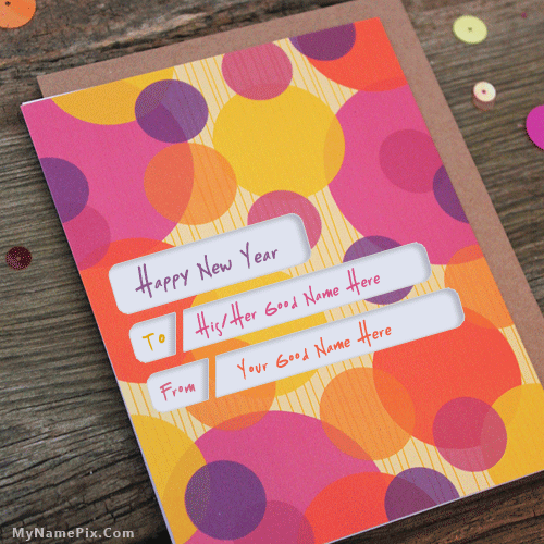 name new year cards