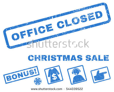 office closed new year banner