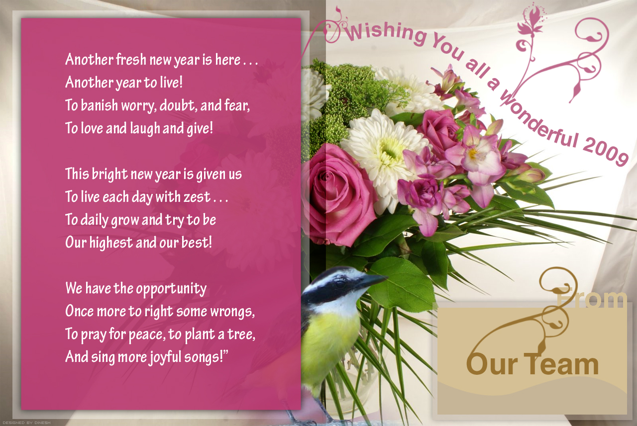 office new year greetings