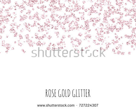 pink gold new year border