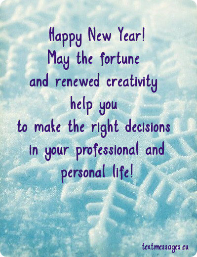 professional new year messages