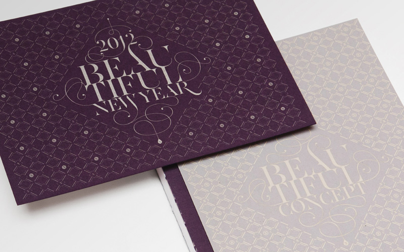 purple new year cards