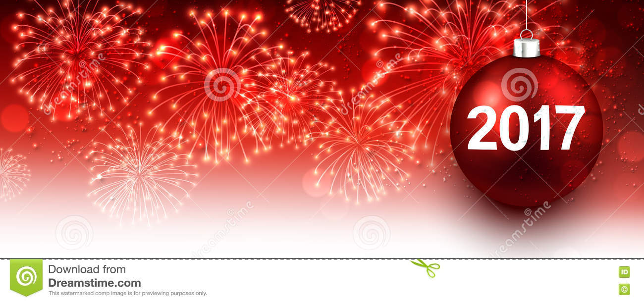 red new year banner