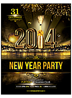 restaurant new year poster