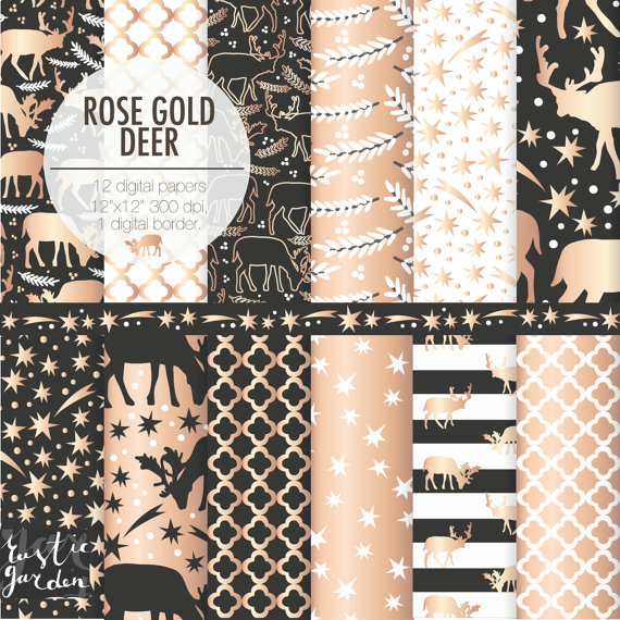 rose gold new year border
