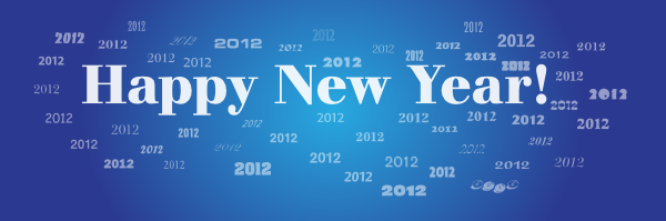 small new year banner