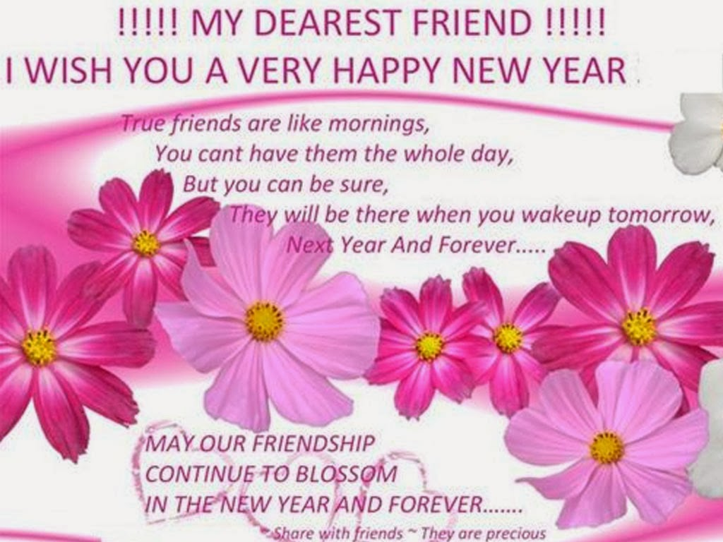 special friend new year messages