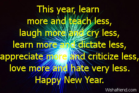 special new year saying
