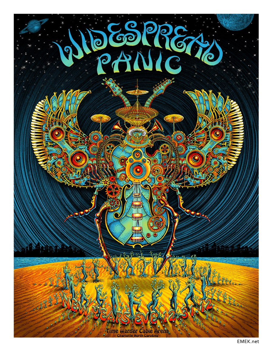 widespread panic new year poster