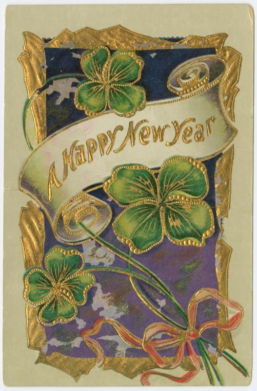 19th century new year cards