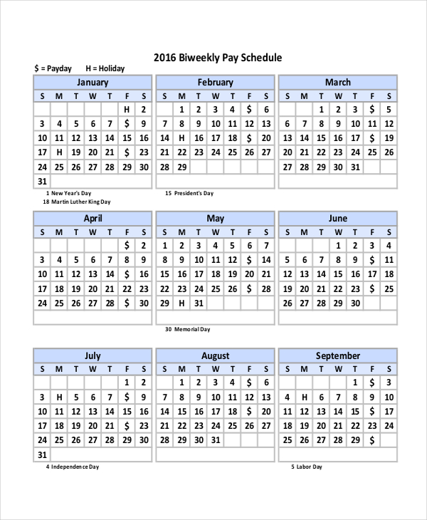 2018 Biweekly Payroll Calendar Template from happy-new-year-2019.me