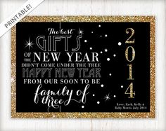 baby announcement new year cards