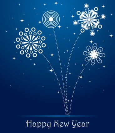 blue new year cards