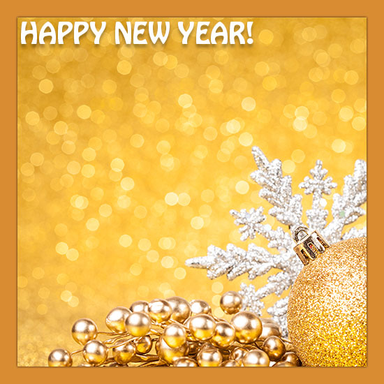 champagne new year border