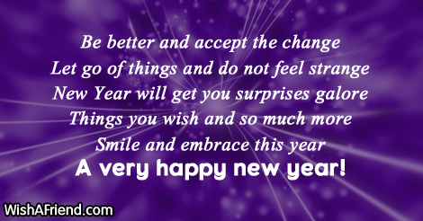 change new year saying
