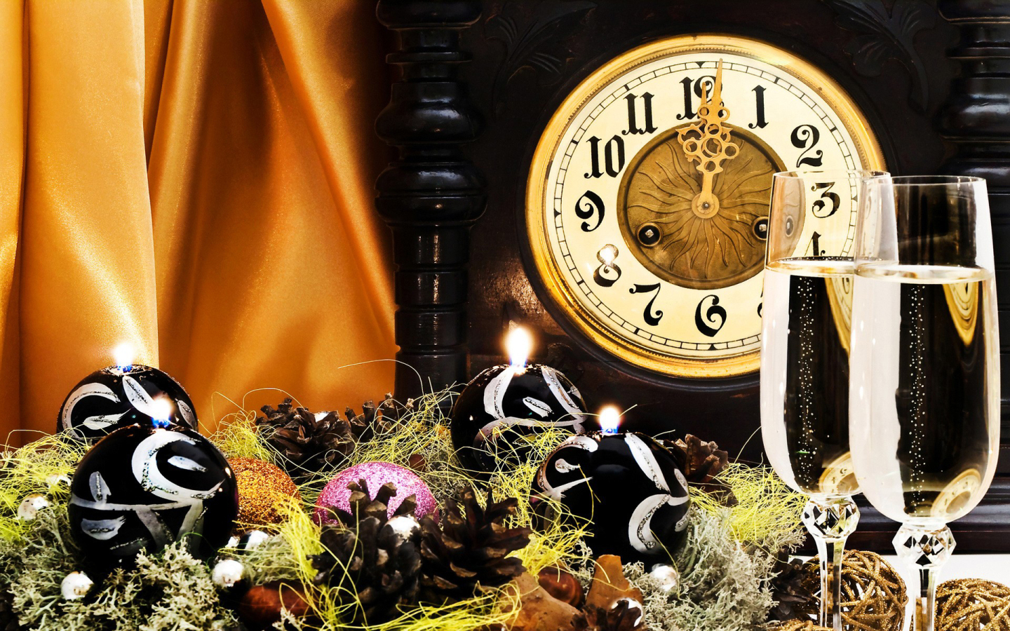 clock new year backgrounds