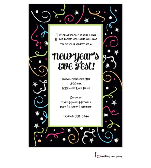 company year end party new year invitation