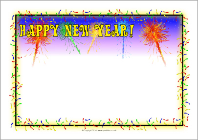 congratulation new year border