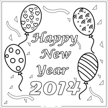 cute new year drawings