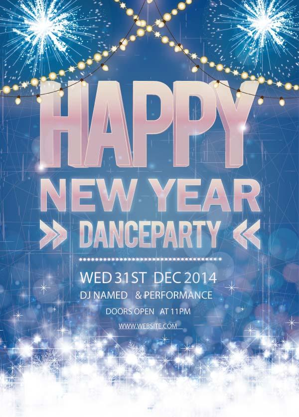 dance new year poster