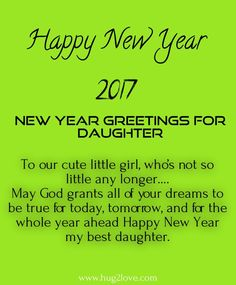 daughter new year saying