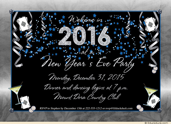 designer party new year invitation