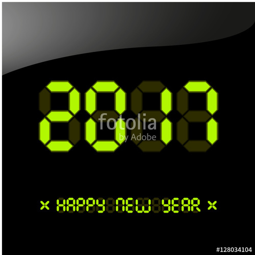 digital new year poster