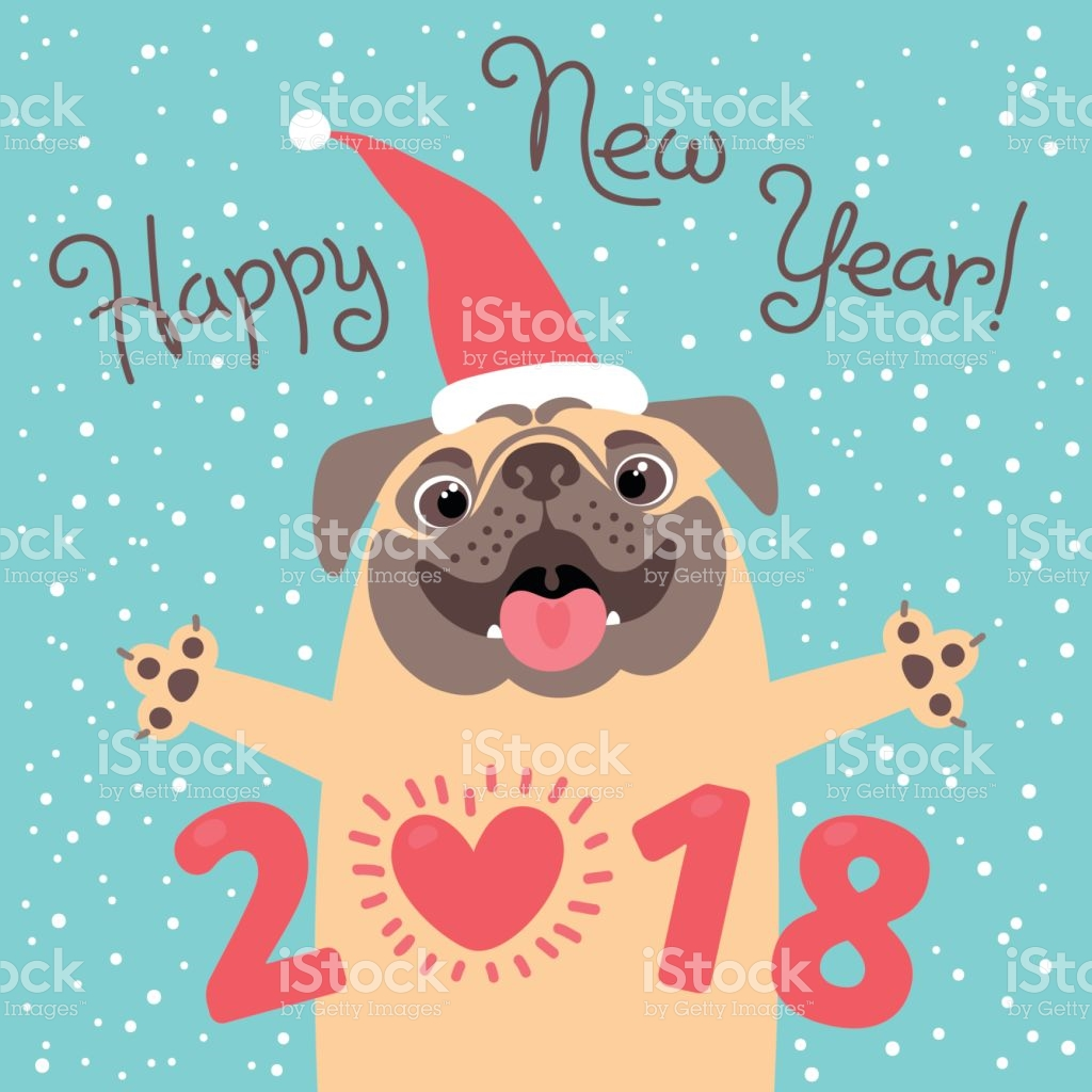 dog new year cards
