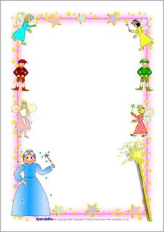 fairy page new year border