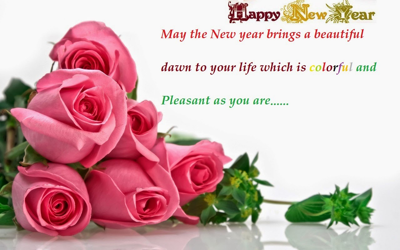 flower new year greetings