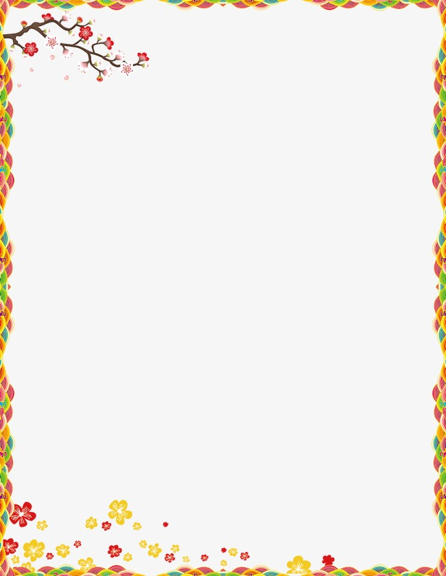 flowery new year border