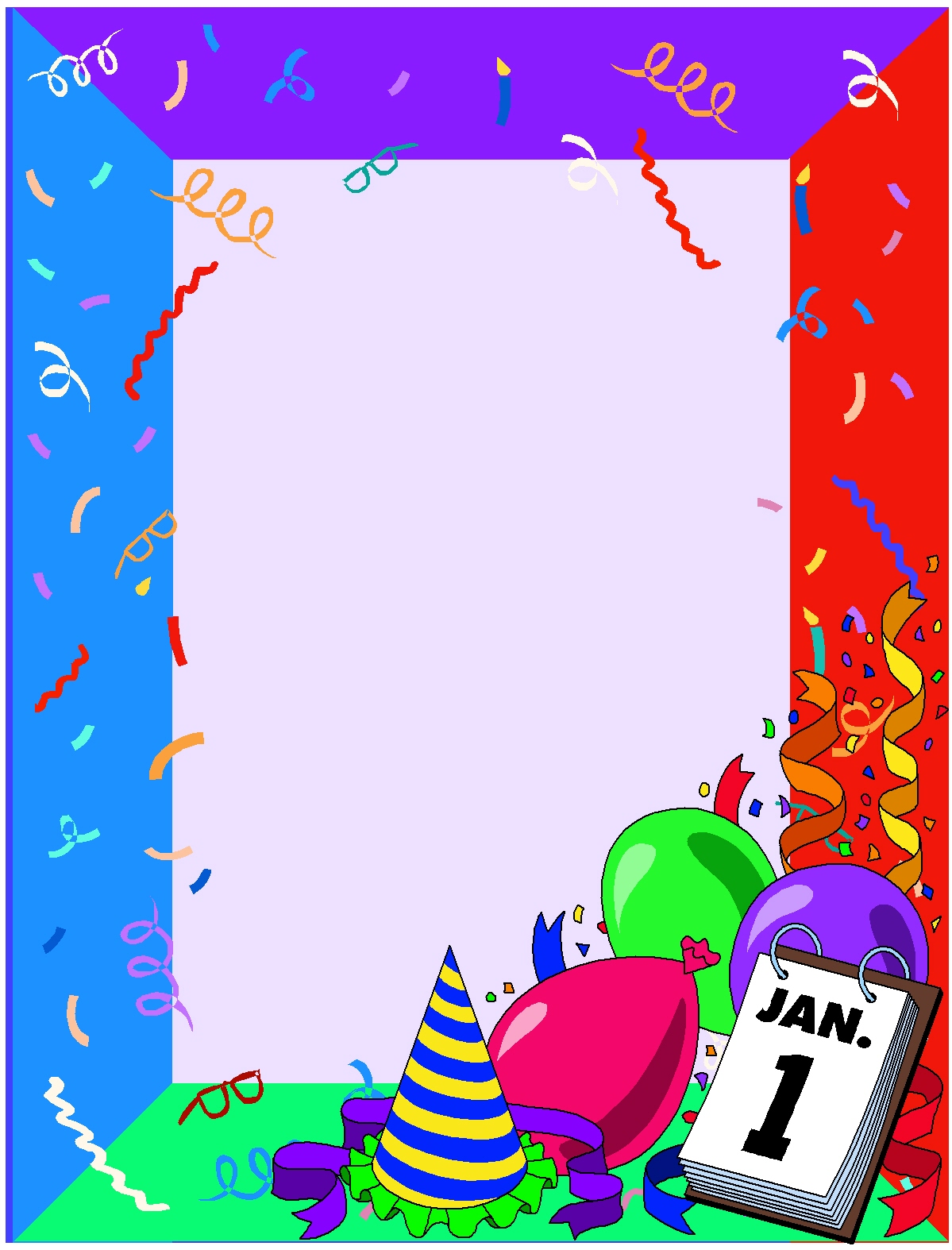 frame new year clip art