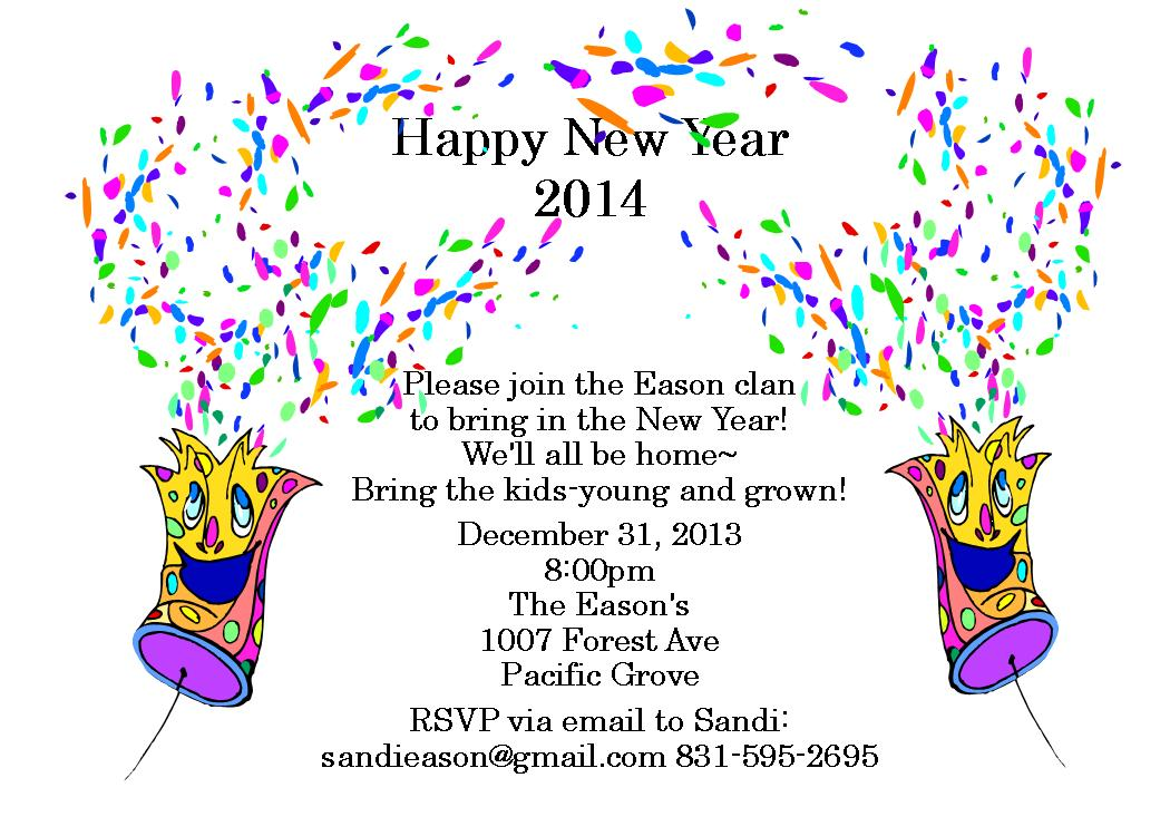 general party new year invitation
