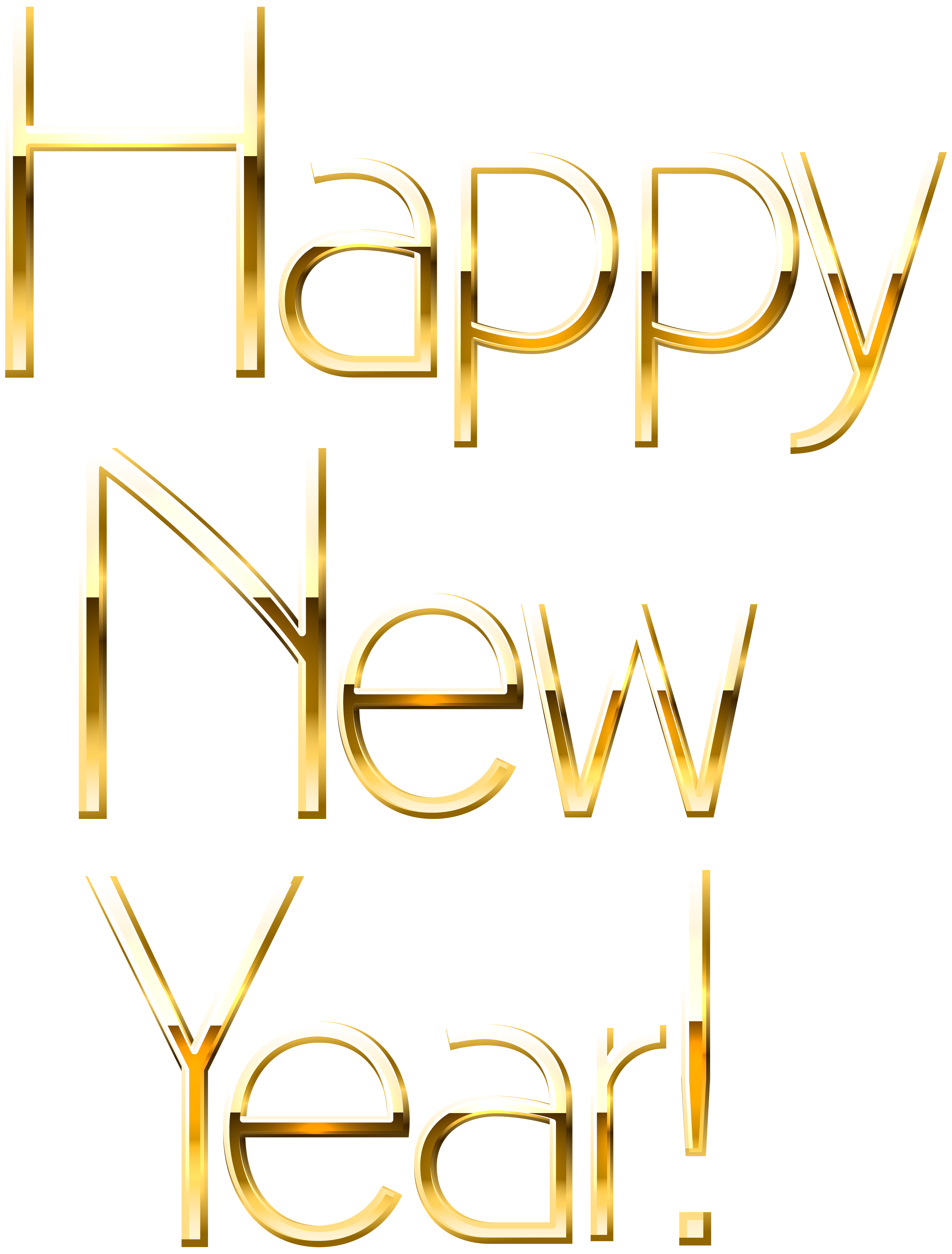 gold new year clip art