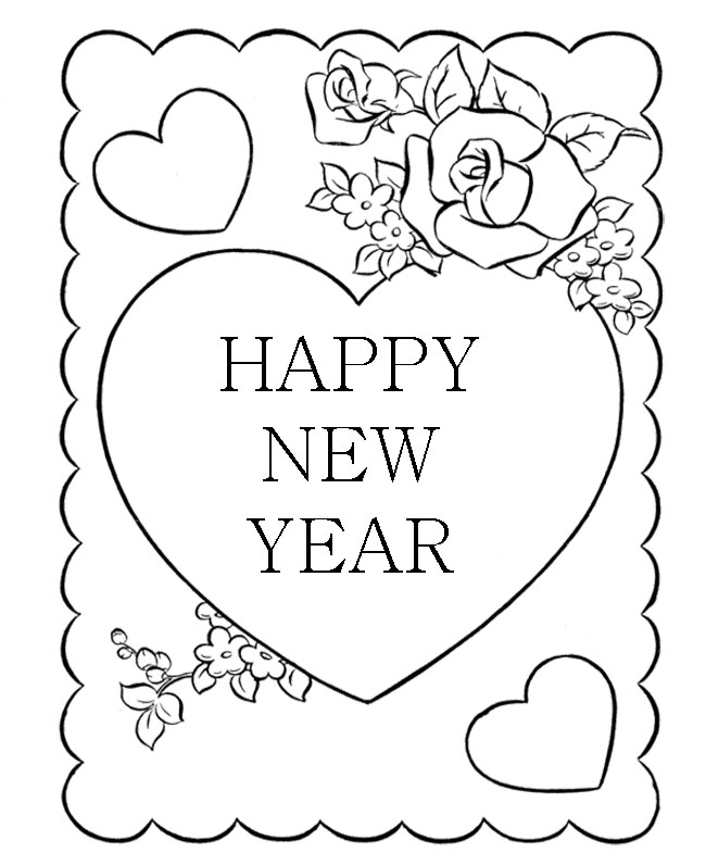 greeting card new year drawings