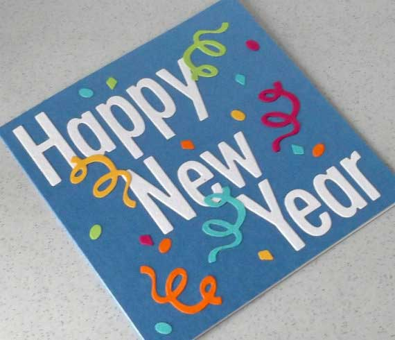 homemade new year cards