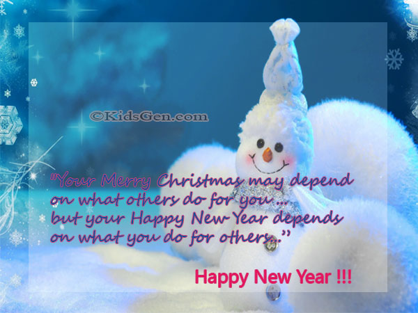 kid new year messages