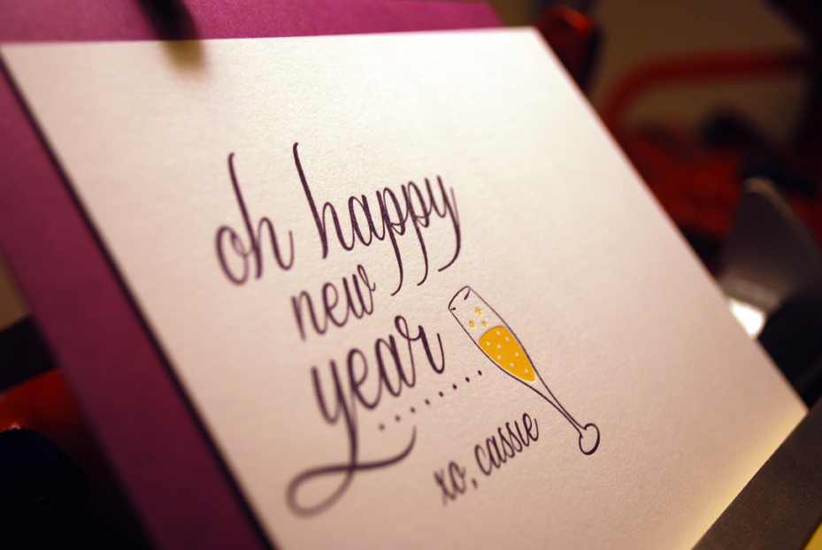 letterpress new year cards