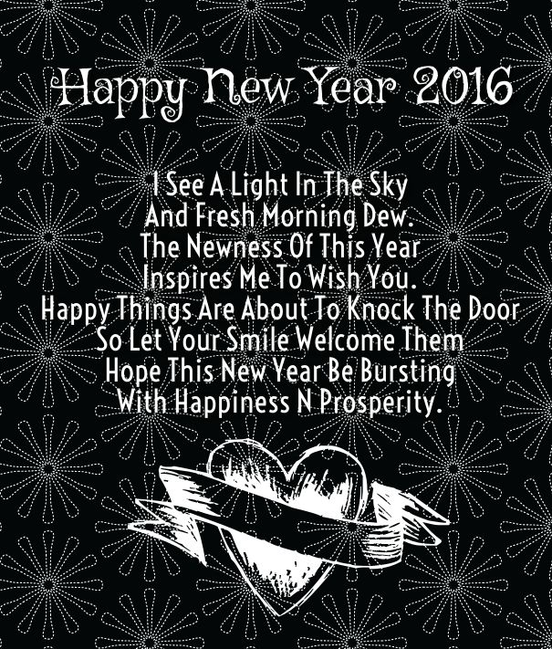 love new year saying
