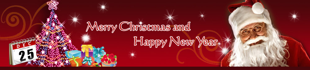 merry christmas new year banner