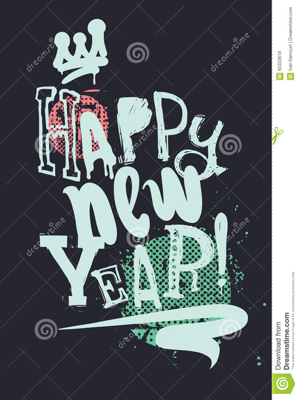 modern new year poster
